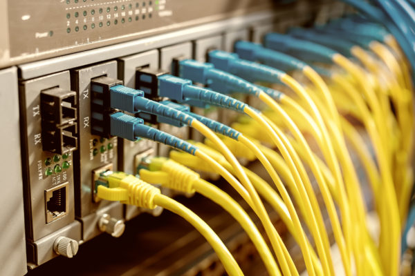 79393332 - optical fibre information technology equipment in data center