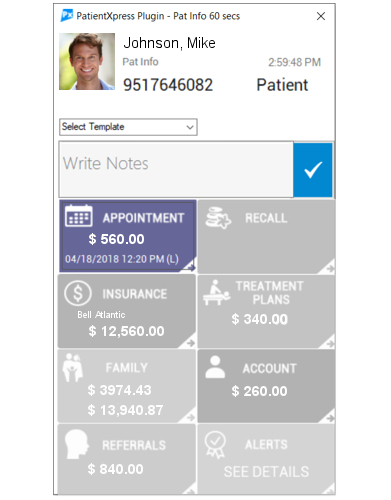 Velocity Practice Communication Management Software - Smart Caller ID - APPOINTMENTS